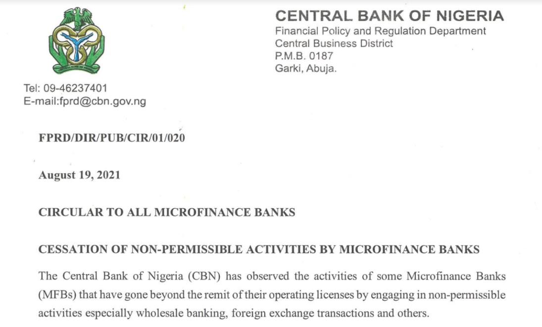 Cbn Warn Microfinance Banks Over Forex Transaction